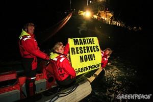 Greenpeace crew confiscate illegal driftnet in the Mediterranean